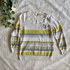 """HWA """"D"""" Dandelion Embroidered Sweater"""